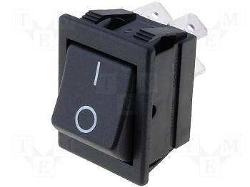 AE C1450AB - čierny 10A spínač 0-1