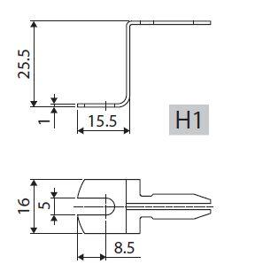 držiak k TR 260-262/H1