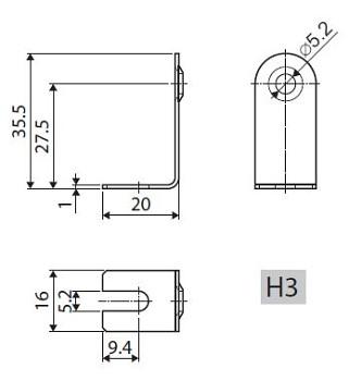 držiak k TR 265-268/H3